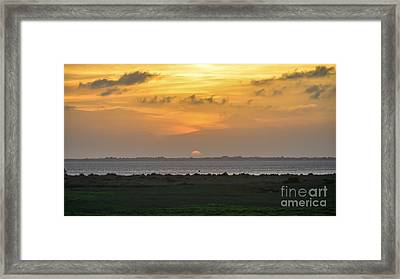 Framed Print featuring the photograph Pastel Sky by Debra Martz