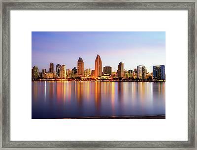 Pastel Skyline Framed Print