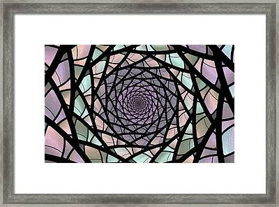 Pastel Stained Glass  Framed Print