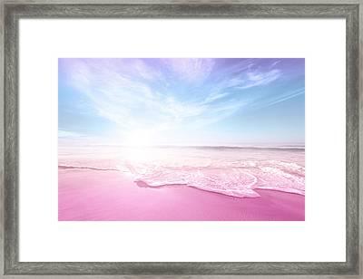 Pastel Summer Beach Vacation Framed Print by Fbmovercrafts