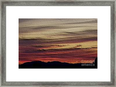 Framed Print featuring the photograph Pastel Sunset - Embossed by Erica Hanel
