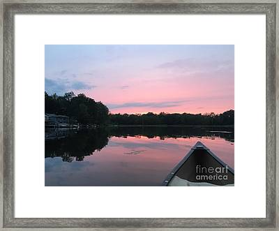 Pastel Sunset Framed Print