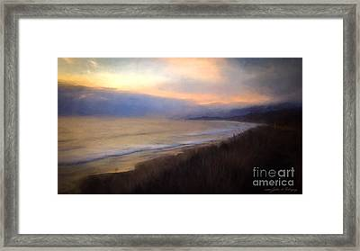 Framed Print featuring the photograph Pastel Sunset by John A Rodriguez