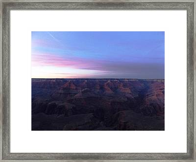 Pastel Sunset Over Grand Canyon Framed Print by Adam Cornelison