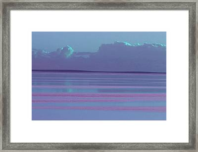 Pastel Sunset Sea Lilac Framed Print