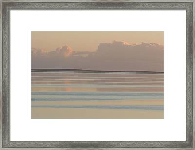 Pastel Sunset Sea Original Framed Print