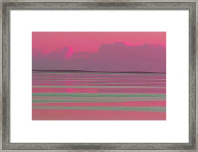 Pastel Sunset Sea Pink Framed Print