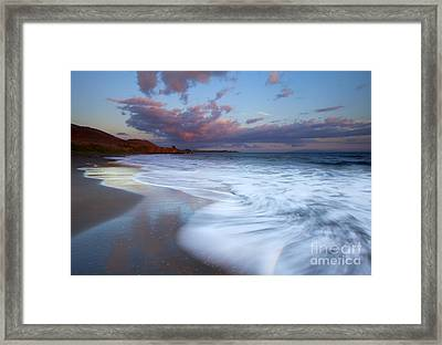 Pastel Sunset Tides Framed Print by Mike Dawson