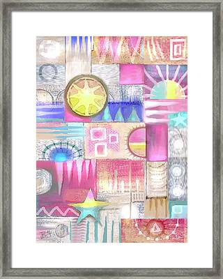 Pastel Symmetry Framed Print