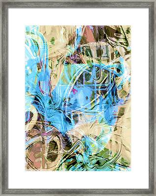 Pastel Tones Abstract Framed Print