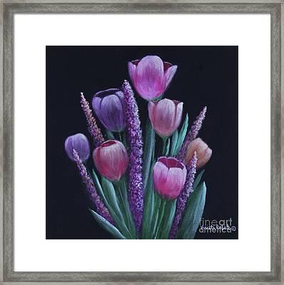 Pastel Tulips Framed Print