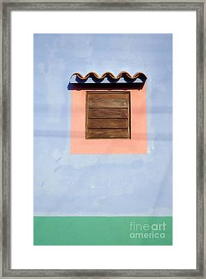 Framed Print featuring the photograph Pastel Wall Gran Roque Venezuela by John  Mitchell