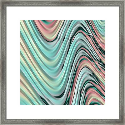 Framed Print featuring the digital art Pastel Zigzag by Bonnie Bruno