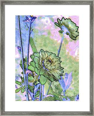 Pastelation Of Reality Framed Print