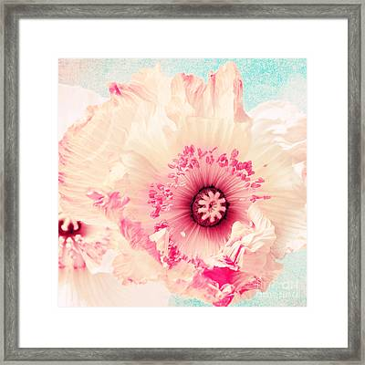 Pastell Poppy Framed Print by Angela Doelling AD DESIGN Photo and PhotoArt
