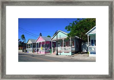 Pastels Of Key West Framed Print by Susanne Van Hulst