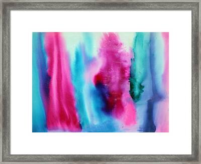 Pastels Waterslide Framed Print