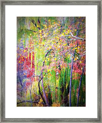 Pasteltrees Framed Print by Maria Scarfone