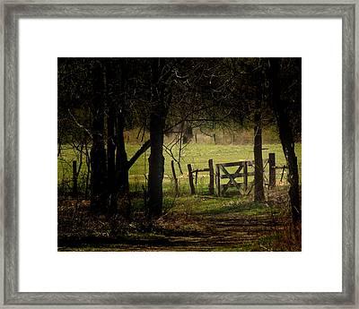 Pastor Gate  Framed Print
