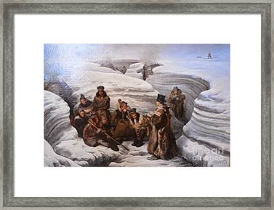 Pastor Laestadius Preaching To The Sami Framed Print by MotionAge Designs