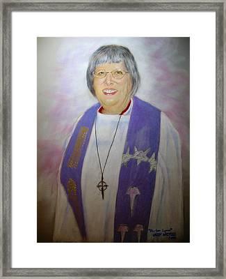 Pastor Lynn Framed Print by Larry Whitler