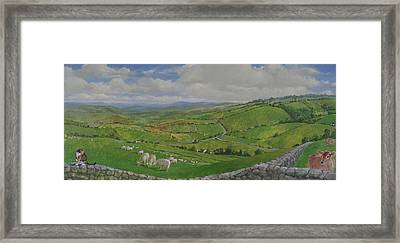 Framed Print featuring the painting Pastoral  by Cliff Spohn