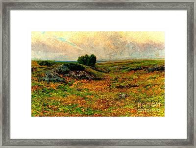 Pastoral Landscape 1885 Framed Print