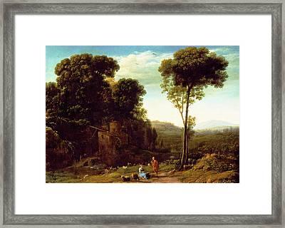 Pastoral Landscape With A Mill Framed Print