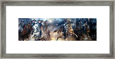 Pastrengo - The Charge II Framed Print by Elisabeth Nussy Denzler von Botha