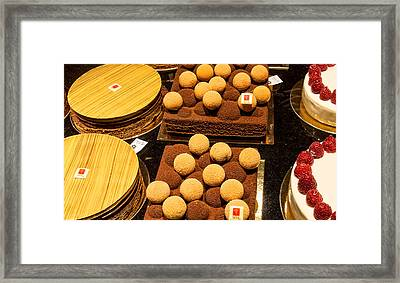 Pastry And Cakes In Lyon Framed Print