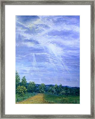 Pasture Lane Framed Print