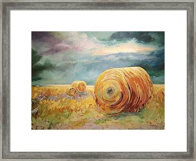Pasture Ornament Framed Print by Ginger Concepcion