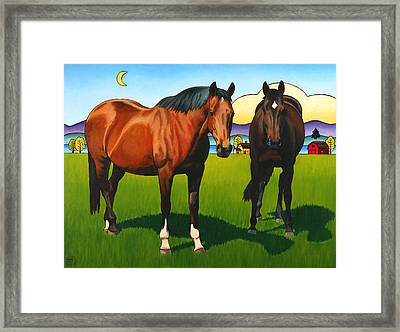 Pasture Pals Framed Print by Stacey Neumiller