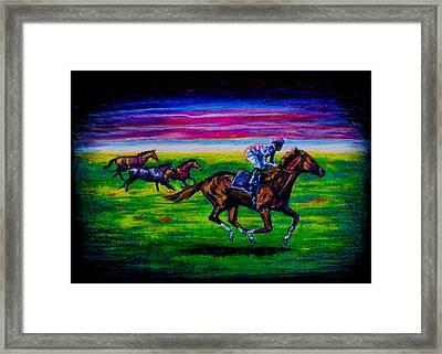 Pasture Race Framed Print