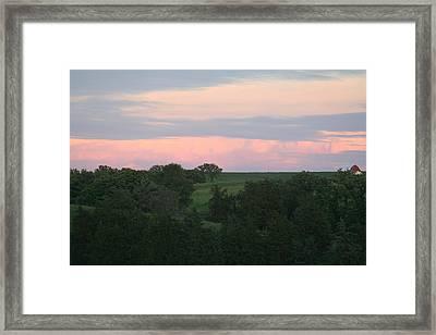 Pasture Scene Framed Print by Linda Ostby