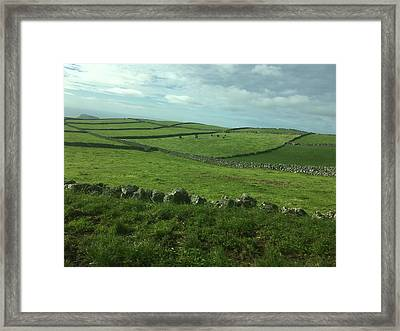 Pastures Of Terceira, The Azores, Portugal Framed Print