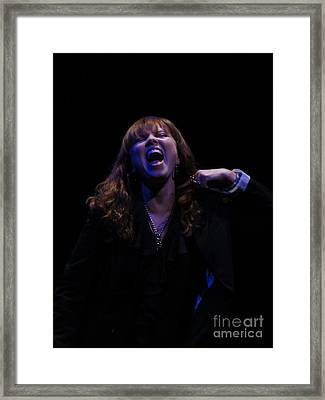 Pat Benatar Live Framed Print by David Peters