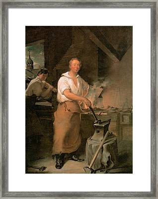 Pat Lyon At The Forge Framed Print by John Neagle