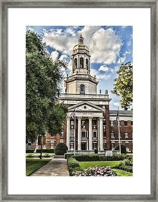 Pat Neff Hall - Baylor #4 Framed Print by Stephen Stookey