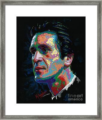 Pat Riley Framed Print by Maria Arango