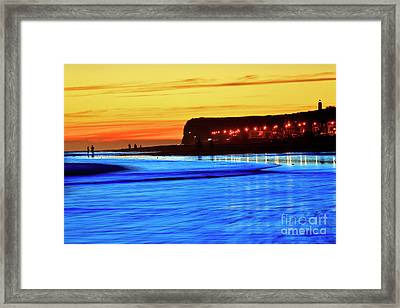 Framed Print featuring the photograph Patagonia Beach. by Bernardo Galmarini