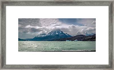Patagonia Lake Framed Print by Andrew Matwijec
