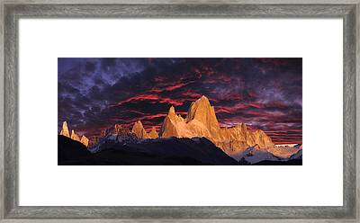 Patagonia Sky Framed Print by Christian Heeb
