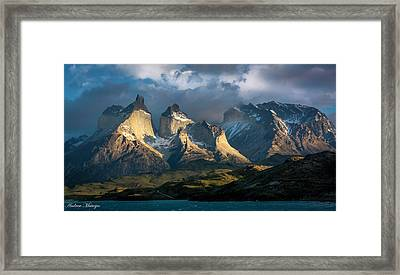 Patagonian Sunrise Framed Print by Andrew Matwijec