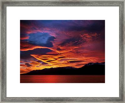 Patagonian Sunrise Framed Print by Joe Bonita