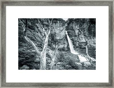 Patagonian Waterfall Framed Print by Andrew Matwijec