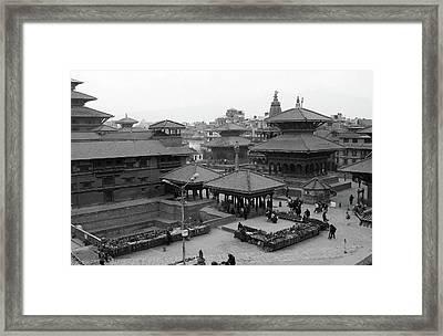 Patan Durbar Square, Kathmandu, Nepal Framed Print