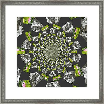 Framed Print featuring the digital art Patch These Falls by Amanda Eberly-Kudamik