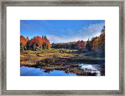Framed Print featuring the photograph Patches Of Fog At The Green Bridge by David Patterson
