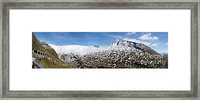 Patches Of Snow Framed Print